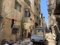 Abeer Ali Naif's rebuilt home in Yarmouk camp, Damascus.