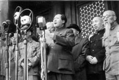 Mao Zedong in Tiananmen Square, October 1, 1949.