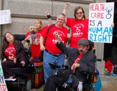 ADAPT members outside MN state capitol building