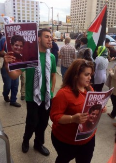 Detroit picket line in support of Rasmea Odeh