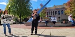 The Oshkosh, WI protest demands a Civilian Police Accountability Council, or CPA
