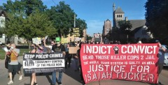 March in Oshkosh, WI demands justice for Isaiah Tucker.