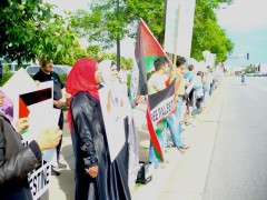 Protesters line the streets to condemn Israeli killings on Freedom Flotilla ship