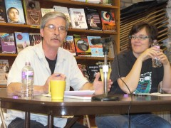 Mick Kelly, the editor of Fight Back! newspaper and Meredith Aby, a leader of th