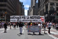 Contingent for Puerto Rican independence marches in Puerto Rican Day Parade