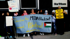 Minneapolis protest outside Star Tribune slams lack of coverage of Israeli settl