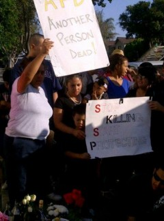Protest against police killing in Anaheim, CA