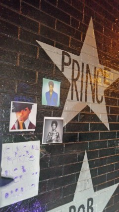 Prince fans gather and pay respects April 21 at First Avenue in Minneapolis