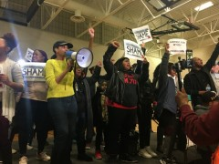 "Protesters cause cancellation of Amy Klobuchar event, demanding ""Free Myon Burre"