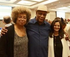 Angela Davis, Frank Chapman, and Rasmea Odeh.