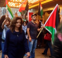 Rasmea Odeh at Aug. 21 protest