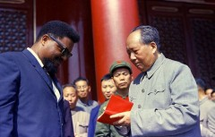 Mao Zedong with U.S. revolutionary Robert Williams.