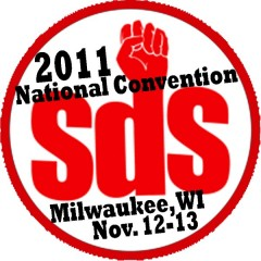 Logo for the 2011 SDS national convention.