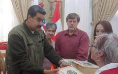 Sarah Martin with President Maduro.