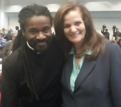 Rev. Osagyefo Sekou and Rasmea Odeh.