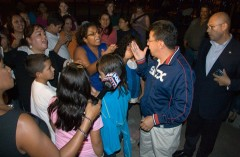 Alderman Solis confronted by Whittier parents and children.