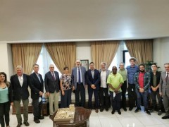 The solidarity delegation meeting with former Syrian ambassador to the United Na