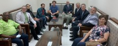 International delegation in Syria to observe elections.