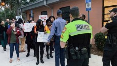 Tallahassee protest demands removal of Police Chief Lawrence Revell.