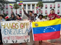 Tallahassee protest against U.S. intervention in Venezuela.