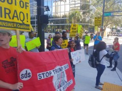 Tampa protest against U.S. war on Iran
