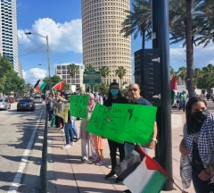 Solidarity with Palestine in Tampa, FL.