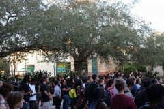 Tampa students stand with African American students at Univ. of Missouri