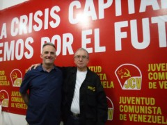 Pedro Eusse, a Communist Party of Venezuela (PCV) Politburo member with FRSO Org