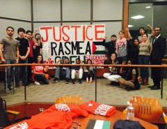 University of Houston students at event on the Palestinian activist Rasmea Odeh