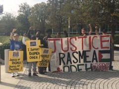Houston protest demands justice for Rasmea Odeh