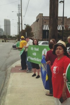 Protest in support of low-wage workers at Houston Wal-Mart.