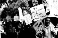 UIC workers march for a decent contract,