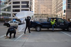 Police taking down tents at Occupy Minnesota bank protest