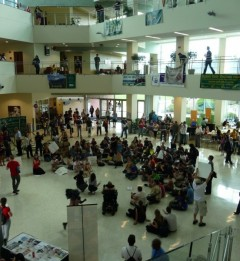 Students occupy the Marshall Student Center