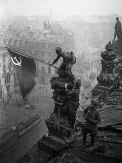 Soviet flag over Berlin.