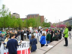 May 8 rally demand raises and respect at the University of Minnesota.
