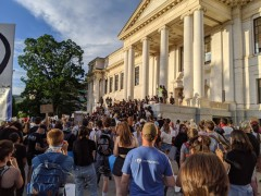 Protest against police crimes at the University of Utah, June 3.