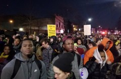 Protest against police terror in New York City.