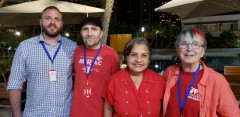 FRSO delegates with Gladys Requena (second from left), Vice President of Venezue