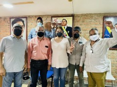 Members of Venezuelan teachers union.