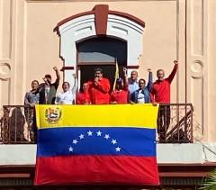 President Maduro speaking in Caracas Jan. 23.
