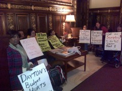 Welfare Rights Committee sit-in in Governor Dayton's office