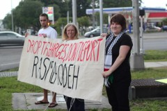 Protest in solidarity with Rasmea Odeh in Tampa