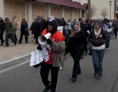 Milwaukee protest demands justice for Trayvon Martin, end to police brutality.