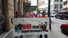 June 4 No More Deportations protest against Sheriff Stanek, Minneapolis