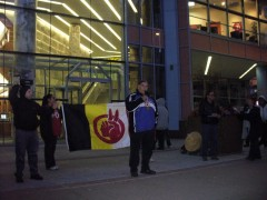 Clyde Bellecourt of the American Indian Movement (AIM)