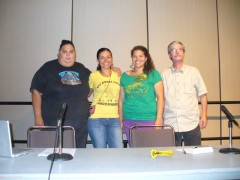 """Panelists at USSF workshop """"Building the people's struggle"""""""