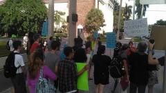 Anti-war protest in Ft Lauderdale, FL.