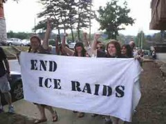 Banner: End ICE Raids