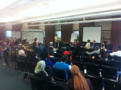 """Over 80 people attended the Atlanta people's assembly, """"Law as a weapon of war"""""""